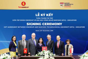 Vingroup cấp học bổng cho tài năng Việt học ĐH Công nghệ Nanyang