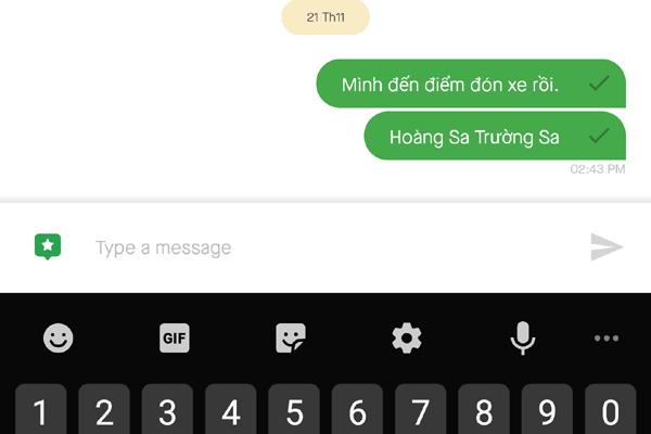 GoViet đã khắc phục lỗi ẩn từ khóa trên ứng dụng chat