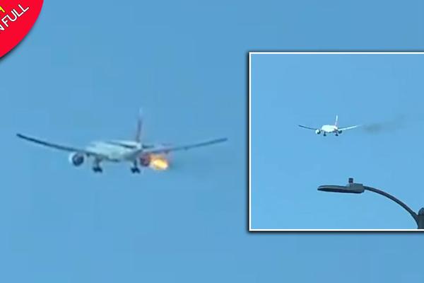 Máy bay Philippines cháy động cơ giữa trời