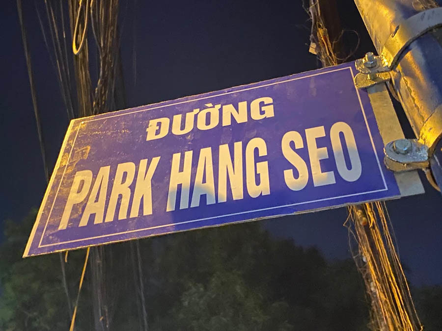 Người Sài Gòn xôn xao khi thấy tên đường Park Hang Seo
