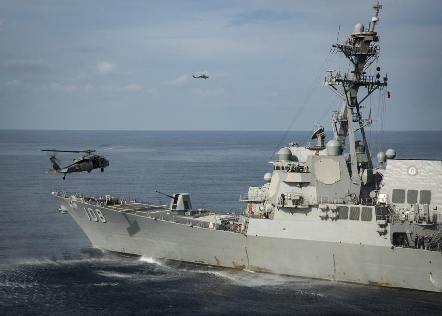 Hai tàu chiến Mỹ áp sát Hoàng Sa, Trường Sa
