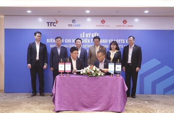 Lotte E&C 'rót' 100 triệu USD cùng TTC Land phát triển dự án