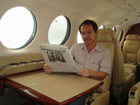 máy bay,chuyên cơ,bầu Đức,Trần Đình Long