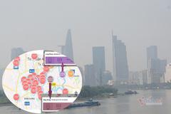 Trời Sài Gòn mịt mù, app ngoại báo mức ô nhiễm đỏ rực