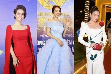 Lý Nhã Kỳ, Nhã Phương đọ sắc trên thảm đỏ Liên hoan phim Việt Nam