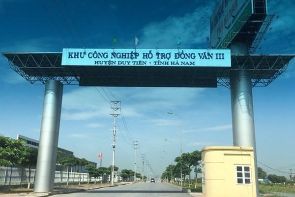 Đầu tư xây dựng kết cấu hạ tầng KCN hỗ trợ Đồng Văn III
