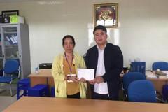 Trao hơn 25 triệu đồng đến em Ngô Văn Tân Tiến bị ung thư xương