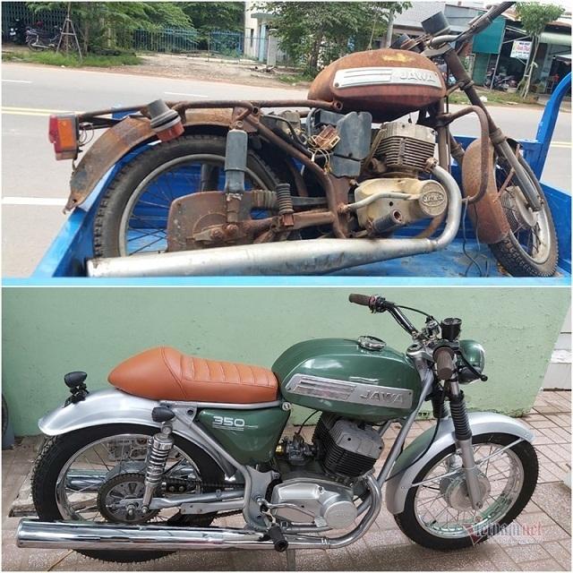 Dân chơi Tây Ninh 'phù phép' xe cổ Jawa 29 tuổi cũ kỹ thành mới toanh