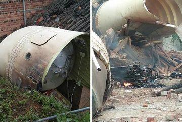 Trung Quốc phóng vệ tinh, mảnh vỡ tên lửa rơi trúng nhà dân