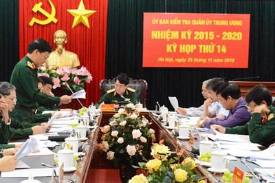 UB Kiểm tra Quân ủy Trung ương đề nghị kỷ luật các tổ chức, cá nhân