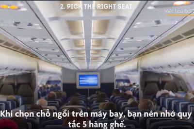 Khu ghế an toàn nhất cho hành khách khi máy bay xảy ra sự cố