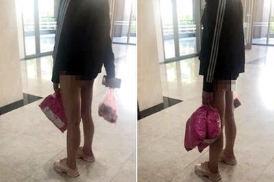 Cô gái ăn mặc phản cảm đợi thang máy khiến dân mạng phẫn nộ