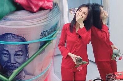 Thủy Tiên bất ngờ vì 'món quà mọn' Công Vinh tặng sinh nhật
