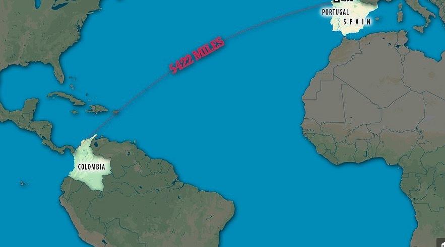 Bắt giữ tàu ngầm đầu tiên chở ma tuý vượt Đại Tây Dương
