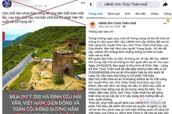 Bác tin đồn bán 200ha trên núi Hải Vân cho người Trung Quốc