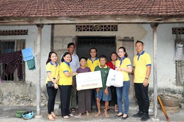 PNJ chia sẻ cùng hoàn cảnh khó khăn ở Nghệ An