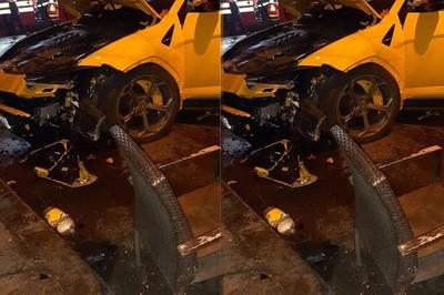 Lamborghini Urus vỡ đầu, nát hông sau va chạm với xe BMW