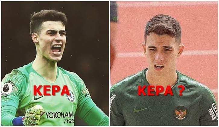 U22 Indonesia gây sốt với thủ môn điển trai giống hệt Kepa
