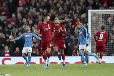 Liverpool thoát thua trước Napoli