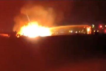 Trực thăng quân sự Israel bốc cháy giữa trời