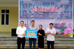 PV GAS tài trợ 3 tỷ đồng xây dựng trường Mầm non Hà Tĩnh