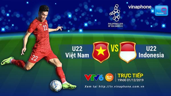 Xem trực tiếp Việt Nam - Indonesia tối 1/12 trên MobileTV