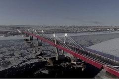 Ngắm cây cầu cao tốc đầu tiên xuyên biên giới Nga - Trung