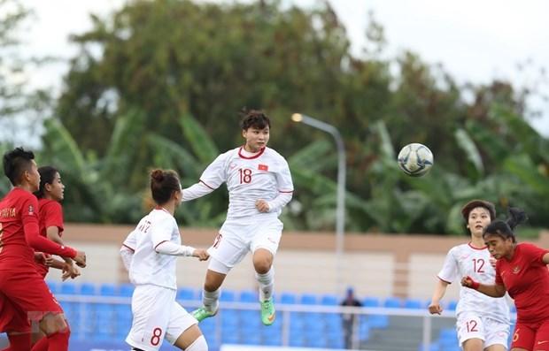 Vietnamese female footballers,beat,Indonesia,6-0,SEA Games 30,Vietnamese womens football team,Vietnam News