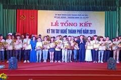 296 thí sinh xuất sắc giành giải tại kỳ thi tay nghề TP Hà Nội năm 2019