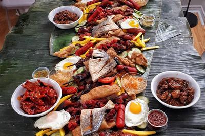 Tiệc ăn bốc của người Philippines