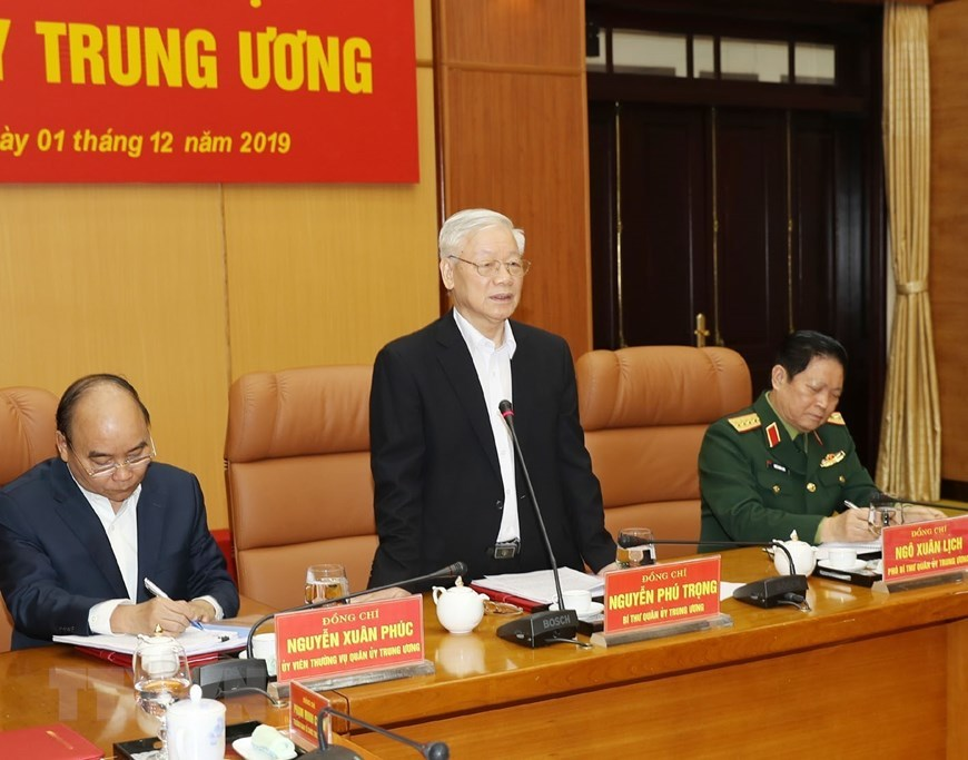 Tổng bí thư chủ trì hội nghị tổng kết công tác quân sự, quốc phòng