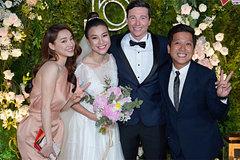 Trường Giang, Nhã Phương dự tiệc cưới Hoàng Oanh và chồng Tây