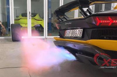 Đại gia Hoàng Kim Khánh độ Lamborghini Aventador S pô khạc lửa dài nhất Việt Nam