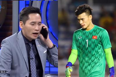 BTV Quốc Khánh gây tranh cãi khi gọi Văn Lâm sau sai lầm của Tiến Dũng