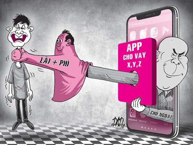 Kinh hoàng lãi suất vay qua app