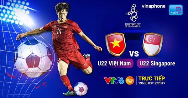 Xem trực tiếp U22 Việt Nam - U22 Singapore trên MobileTV