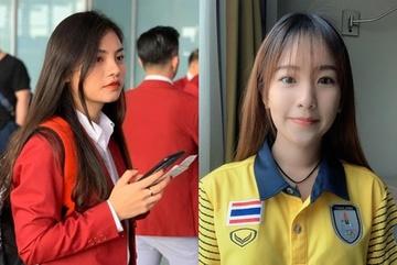 Nhan sắc 2 nhân viên y tế của Việt Nam và Thái Lan tại SEA Games 30