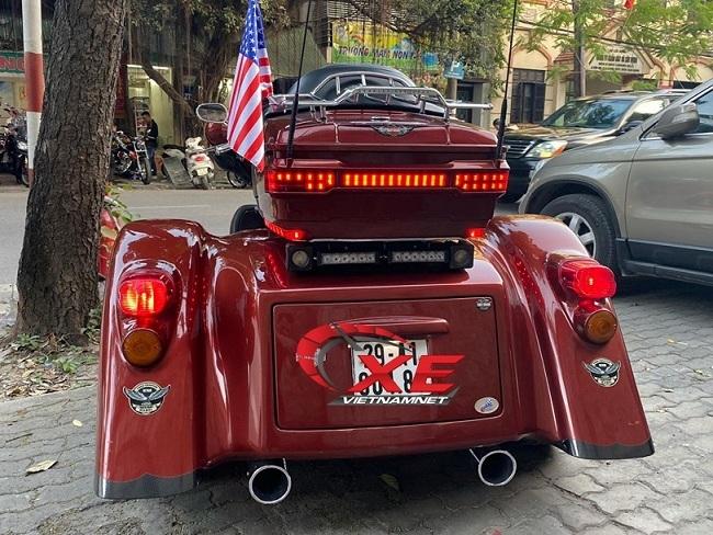 Siêu mô tô Harley Davidson 3 bánh giá 1,6 tỷ độc nhất Việt Nam