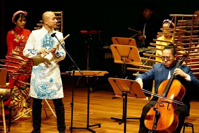 Bamboo ensemble,L'Espace Hanoi,Autumn Bamboo concert