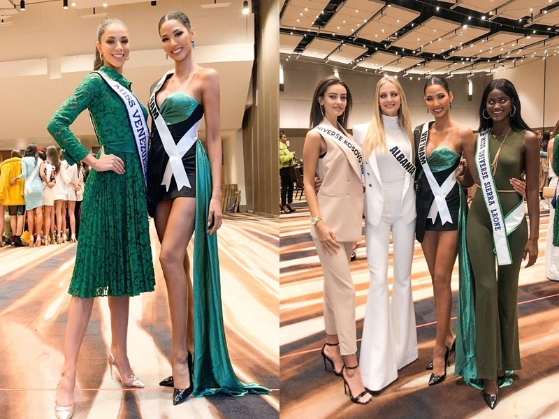 Hoàng Thùy nổi bật lấn án dàn thí sinh Hoa hậu Hoàn vũ 2019