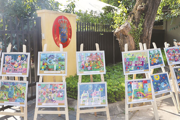 Paintings of Denmark through Vietnamese children's eyes