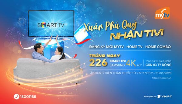 Cuối năm, đăng ký MyTV nhận smart tivi