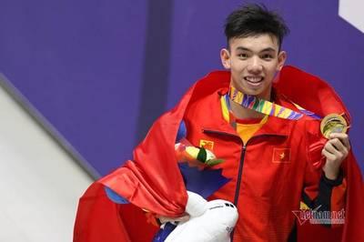 Video Nguyễn Huy Hoàng phá kỷ lục SEA Games, giành HCV 400m tự do
