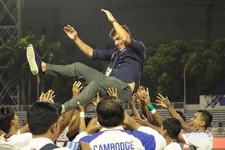 """HLV Campuchia: """"Chúng tôi chờ gặp U22 Việt Nam ở bán kết"""""""