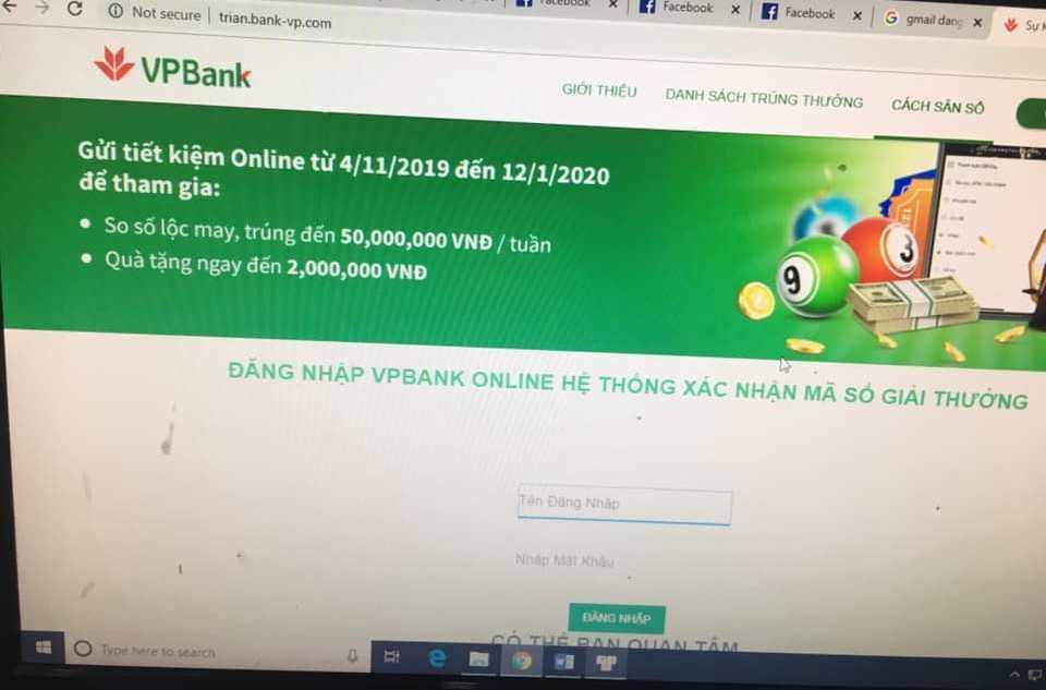 2 phút, 18 giao dịch và 460 triệu bị 'ngân hàng' giả mạo VPB lừa đảo