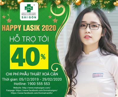 Happy Lasik 2020: Hỗ trợ đến 40% phí phẫu thuật khúc xạ