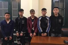 Bắt nhóm thanh niên mang phóng lợn gây 4 vụ cướp ở Hà Nội