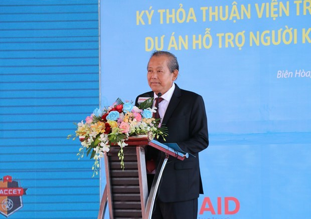 Dioxin Remediation at Bien Hoa Airbase Project,Dong Nai,USAID,NACCET,Deputy Prime Minister Truong Hoa Binh,US Deputy Chief of Mission in Vietnam Caryn R. McC,dioxin-contaminated soil,persons with disabilities