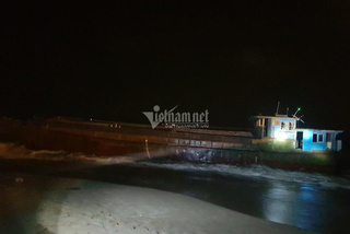 Tàu không người lái nghi của Trung Quốc dạt cảng Sơn Dương