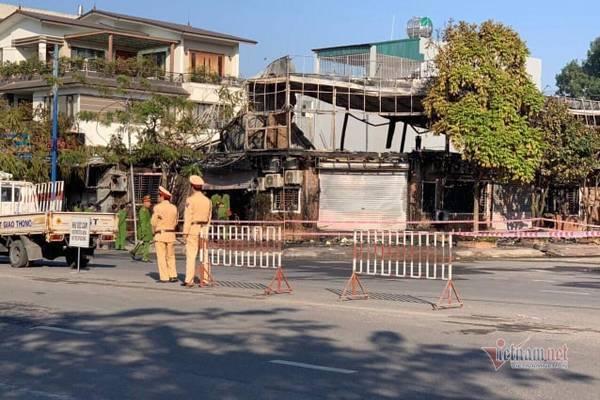 Cháy cửa hàng lẩu ở Vĩnh Phúc, 4 người tử vong